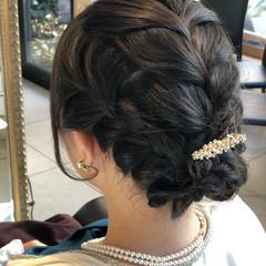 ヘアアレンジ ナチュラル パーティ 結婚式 ヘアスタイルや髪型の写真・画像