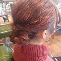 ヘアアレンジ 大人かわいい ミディアム 簡単ヘアアレンジ ヘアスタイルや髪型の写真・画像