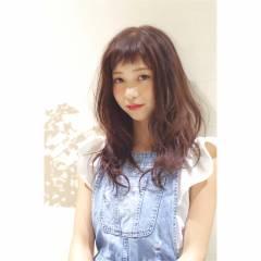 外国人風 セミロング ウェットヘア 大人かわいい ヘアスタイルや髪型の写真・画像