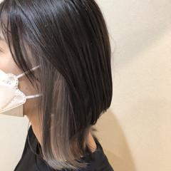 ダブルカラー ブリーチ インナーカラー モード ヘアスタイルや髪型の写真・画像