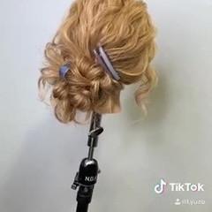 ロング アンニュイほつれヘア ヘアアレンジ 簡単ヘアアレンジ ヘアスタイルや髪型の写真・画像