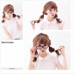 三つ編み ストリート ガーリー 大人かわいい ヘアスタイルや髪型の写真・画像