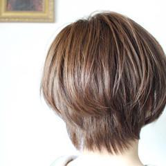 アッシュベージュ ミルクティーベージュ ボブ ベージュ ヘアスタイルや髪型の写真・画像