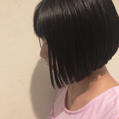 ガーリー ボブ ミニボブ ヘアスタイルや髪型の写真・画像