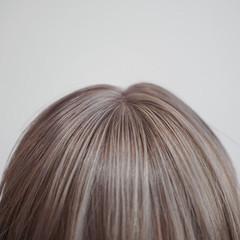 ボブ ナチュラル 透明感 ミルクティー ヘアスタイルや髪型の写真・画像
