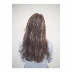 マルサラ 大人かわいい ストリート ロング ヘアスタイルや髪型の写真・画像
