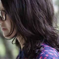ミディアム パーマ デジタルパーマ ヘアスタイルや髪型の写真・画像