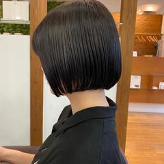 ミニボブ モテボブ タンバルモリ ナチュラル ヘアスタイルや髪型の写真・画像