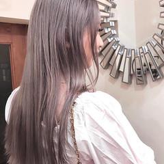 ハイライト ナチュラル ハイトーンカラー バレイヤージュ ヘアスタイルや髪型の写真・画像
