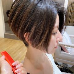 ショート ハンサムショート ショートボブ 刈り上げショート ヘアスタイルや髪型の写真・画像