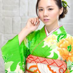 ショート ヘアアレンジ ガーリー 成人式 ヘアスタイルや髪型の写真・画像