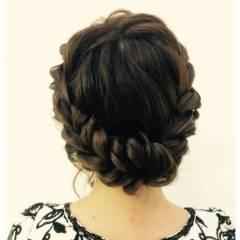 ヘアアレンジ ねじり ラフ ロープ編み ヘアスタイルや髪型の写真・画像