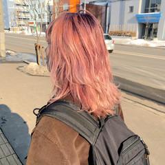 ピンクアッシュ ベリーピンク フェミニン ピンクバイオレット ヘアスタイルや髪型の写真・画像