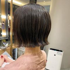 外ハネ 外ハネボブ ミニボブ ボブ ヘアスタイルや髪型の写真・画像