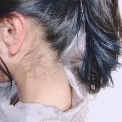 モテ髪 セミロング ナチュラル イヤリングカラー ヘアスタイルや髪型の写真・画像
