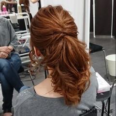 オフィス デート ミディアム ポニーテール ヘアスタイルや髪型の写真・画像