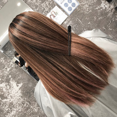 外国人風カラー ストリート ピンクベージュ ハイライト ヘアスタイルや髪型の写真・画像
