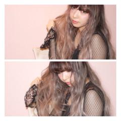 前髪あり ガーリー 外国人風 ロング ヘアスタイルや髪型の写真・画像