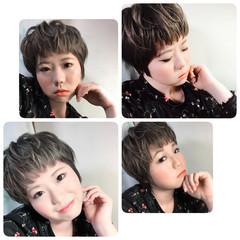 フェミニン ショート ベリーショート ヘアスタイルや髪型の写真・画像