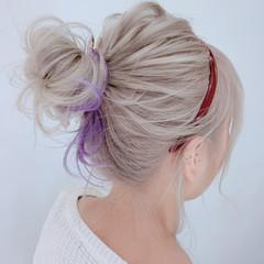 セルフヘアアレンジ イルミナカラー 結婚式 アンニュイほつれヘア ヘアスタイルや髪型の写真・画像