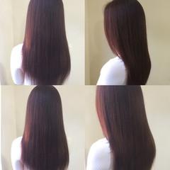 春 ロング ストリート ブラウン ヘアスタイルや髪型の写真・画像