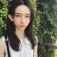 セミロング 大人かわいい 外国人風 ストリート ヘアスタイルや髪型の写真・画像