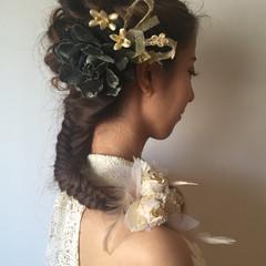 外国人風 ロング ピュア フィッシュボーン ヘアスタイルや髪型の写真・画像