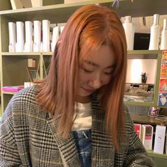 ピンクパープル ピンク ラベンダーピンク ピンクアッシュ ヘアスタイルや髪型の写真・画像