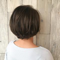 ナチュラル イルミナカラー ショート ショートボブ ヘアスタイルや髪型の写真・画像