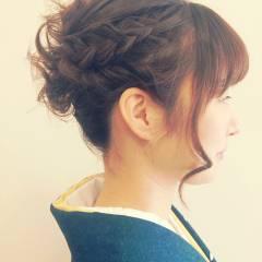 ナチュラル アップスタイル ヘアアレンジ パーティ ヘアスタイルや髪型の写真・画像