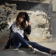 黒髪 かっこいい セミロング モード ヘアスタイルや髪型の写真・画像