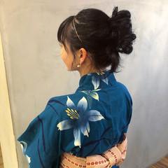 ヘアアレンジ ミディアム ガーリー 福岡市 ヘアスタイルや髪型の写真・画像