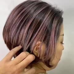 ガーリー ショートボブ ショート ミニボブ ヘアスタイルや髪型の写真・画像