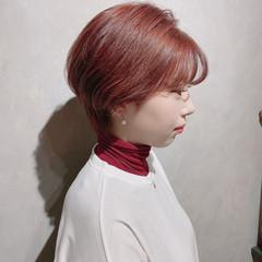 ベリーショート ウルフカット ナチュラル 韓国 ヘアスタイルや髪型の写真・画像