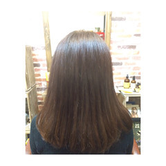 艶髪 ミルクティー セミロング 春 ヘアスタイルや髪型の写真・画像