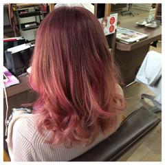 フェミニン カラーバター グラデーションカラー ストリート ヘアスタイルや髪型の写真・画像