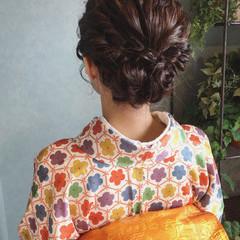 ナチュラル 和装 ボブ ママ ヘアスタイルや髪型の写真・画像