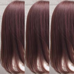 ピンクカラー ガーリー ピンクバイオレット ラズベリーピンク ヘアスタイルや髪型の写真・画像