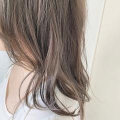 ナチュラル ミルクティーベージュ グレージュ ミルクティーグレージュ ヘアスタイルや髪型の写真・画像
