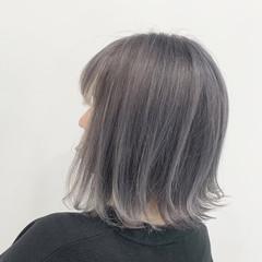 ブリーチ ハイトーン N.オイル 切りっぱなしボブ ヘアスタイルや髪型の写真・画像