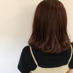 暗髪 ミディアム 色気 大人かわいい ヘアスタイルや髪型の写真・画像