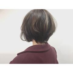 外国人風 ハイライト ナチュラル アッシュ ヘアスタイルや髪型の写真・画像