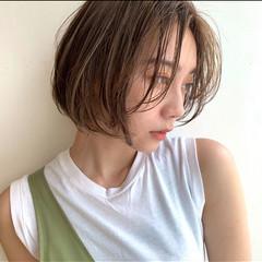 簡単スタイリング ナチュラル ショートボブ 大人可愛い ヘアスタイルや髪型の写真・画像
