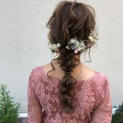 デート ロング 結婚式 ゆるふわ ヘアスタイルや髪型の写真・画像