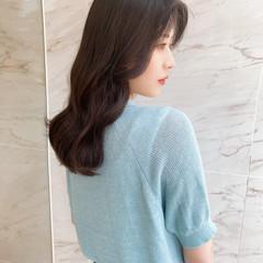 暗髪女子 ヨシンモリ フェミニン デート ヘアスタイルや髪型の写真・画像