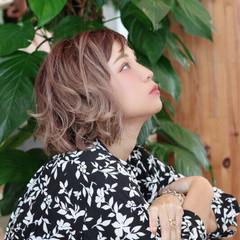 ゆるふわ デート ボブ 秋 ヘアスタイルや髪型の写真・画像