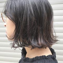 透明感 ハイライト 秋 ボブ ヘアスタイルや髪型の写真・画像