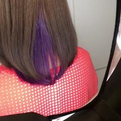 アウトドア リラックス ハイライト ミディアム ヘアスタイルや髪型の写真・画像