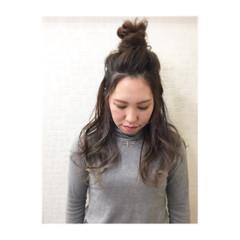ヘアアレンジ 外国人風 ロング アッシュ ヘアスタイルや髪型の写真・画像