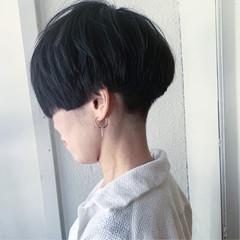 黒髪 ハンサムショート ショート ベリーショート ヘアスタイルや髪型の写真・画像